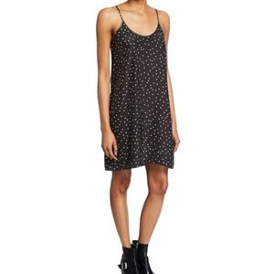 ATM Silk Black White Polka Dot Slip Dress XS